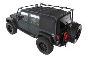 Smittybilt SRC Roof Rack Kit Black - JK 4DR