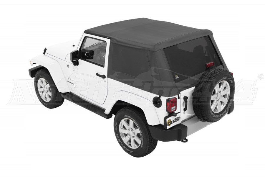 Bestop Trektop NX Plus Soft Top with Tinted Side & Rear Windows - Grey Twill (Part Number:56852-70)