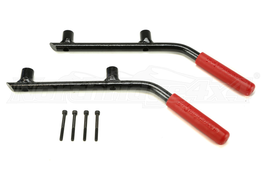 WD Automotive Grabars Rear Black w/Red Handles (Part Number:1004R)