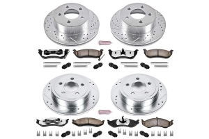 Power Stop Z36 Extreme Truck and Tow Brake Kit, Front and Rear  - TJ/LJ 2003-06