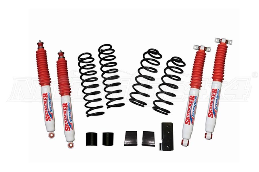 SkyJacker Suspension 2.5in Soft Ride Coil Spring Lift Kit w/ Nitro 8000 Shocks - JK 2Dr