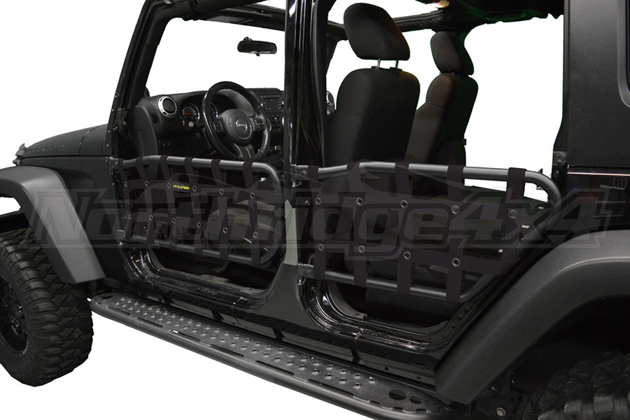 Dirty Dog 4X4 Olympic Front & Rear Tube Door Netting, Black - JK 4DR