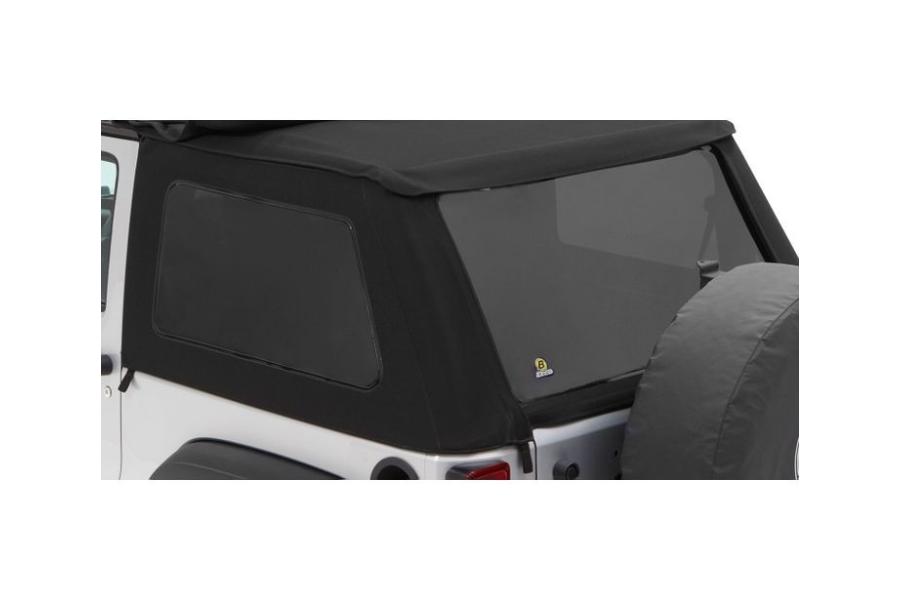 Bestop Trektop NX Soft Top Replacement Tinted Window Kit Black Twill  - JK 2Dr