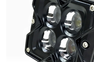 Quake LED 3in Seismic Series RGB Flood Work Light, Quad Lock/Interlock Compatible