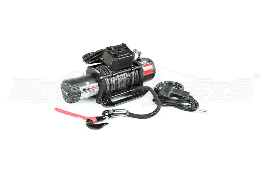 Rugged Ridge Winch, 12500 LBS, Synthetic Rope, Waterproof (Part Number:15100.23)