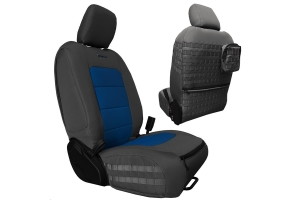 Bartact Tactical Front Seat Covers Graphite/Blue - JL 4dr