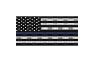 Under The Sun Inserts Thin Blue Line Black And White Grill Insert - JK