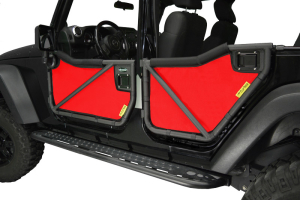 Dirty Dog 4x4 Rancho Tube Door Screens Red (Part Number: )