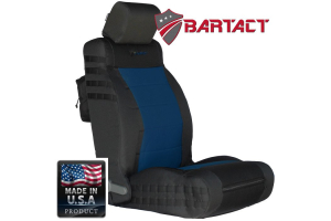 Bartact Tactical Series Front Seat Covers - Black/Navy Blue, SRS-Compliant - JK 2007-10