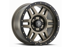 ICON Vehicle Dynamics Six Speed Wheel Bronze, 17X8.5 5x5  - JT/JL/JK