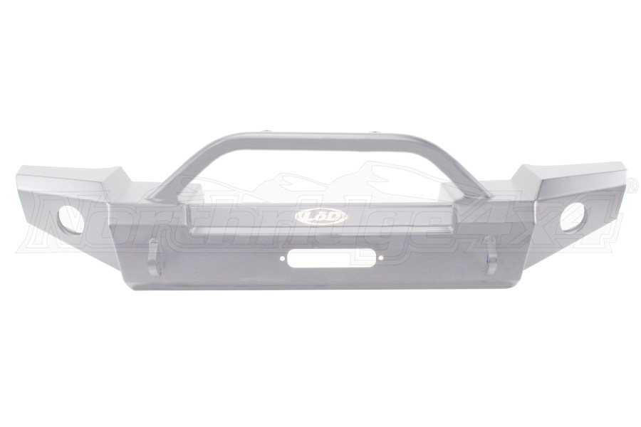 LOD Signature Series Full Width Front Bumper w/Bull Bar Bare Steel (Part Number:JFB0752)