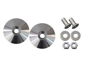 Kentrol Hood Bumper Deletes - Polished Stainless Steel  - JK/TJ