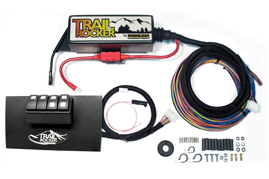 Painless Performance Products Trail Rocker Accessory Control System Black (Part Number:57002)