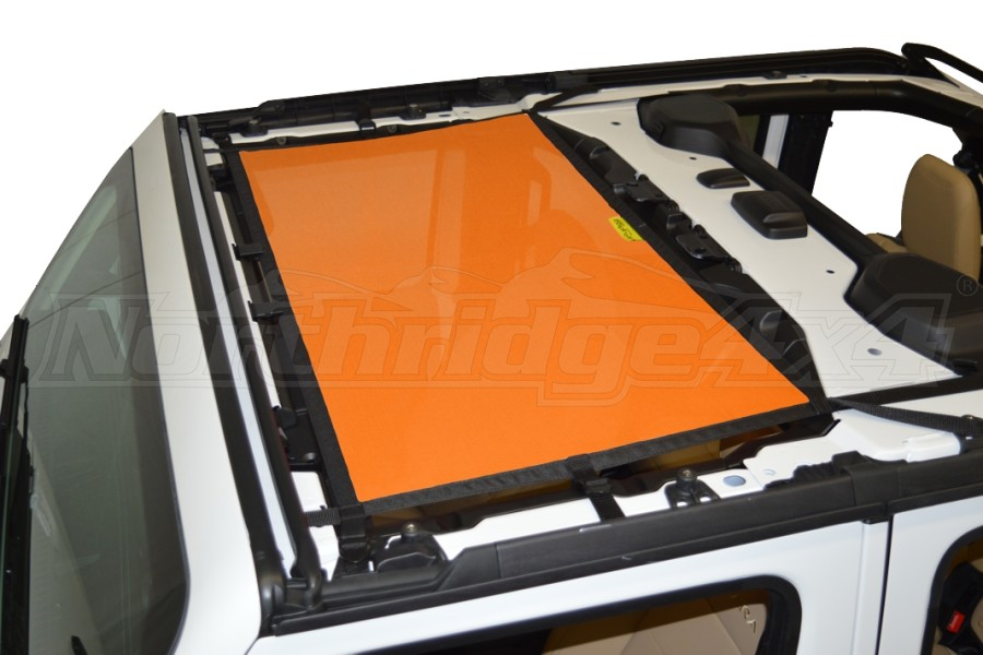 Dirty Dog 4x4 Sun Screen Front - Orange (Part Number:JL4S18F1OR)