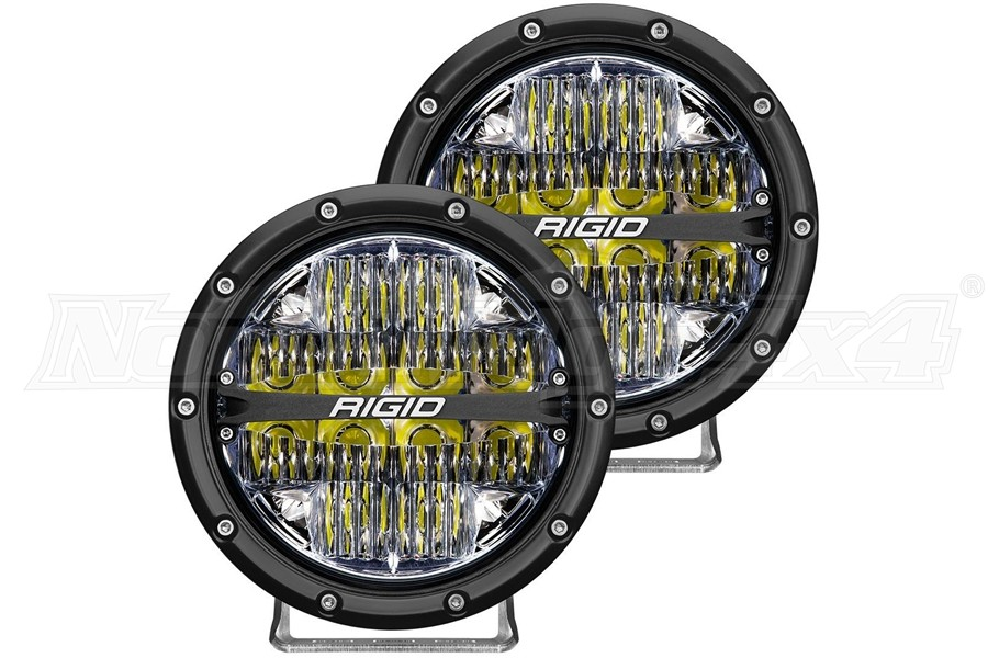 Rigid Industries 360-Series 6in LED Off-Road Drive Fog Lights, White - Pair