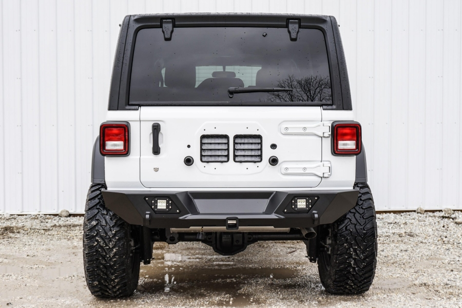 LOD Destroyer Shorty Rear Bumper Only, Black  - JL
