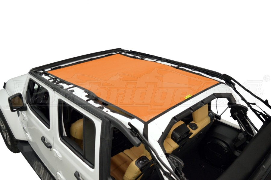 Dirty Dog 4x4 Sun Screen Safari length - Orange (Part Number:JL4S18S1OR)