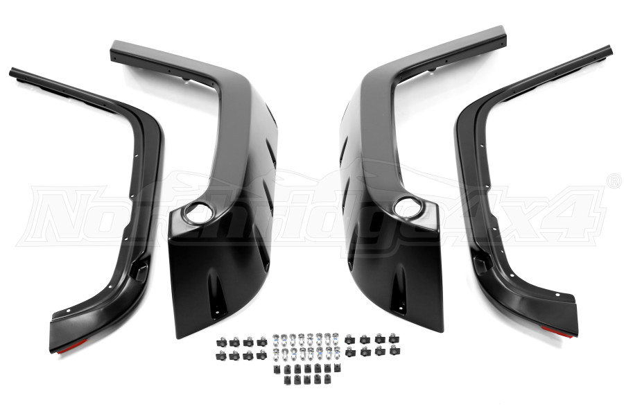 1997 2006 Jeep Wrangler Tj Pocket Style Fender Flare Front Rear Kit