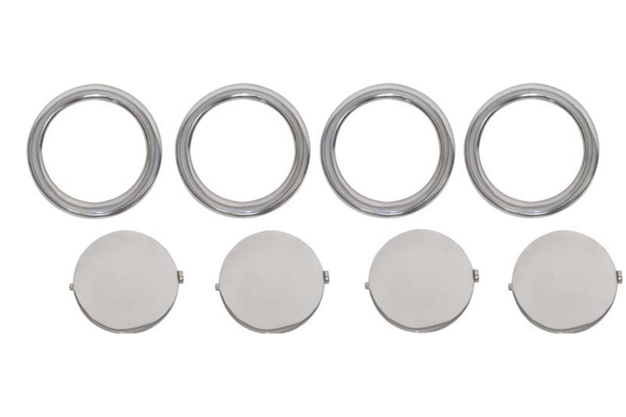 Kentrol 8-Pieces Air Vent Assembly - Polished Silver  - JK 2007-10