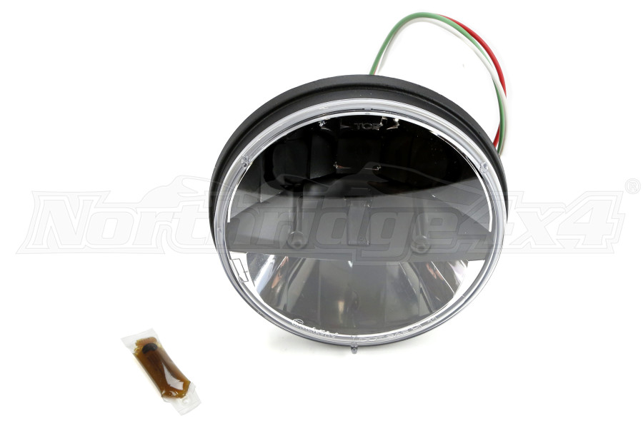 rigid industries trucklite series round headlight 7in jeep rigid industries