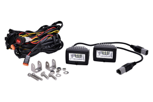 KC HiLites 2in C-Series C2 LED Backup Area Flood Light System
