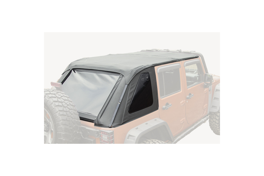 Rugged Ridge Bowless Soft Top, Black Diamond (Part Number:13750.38)