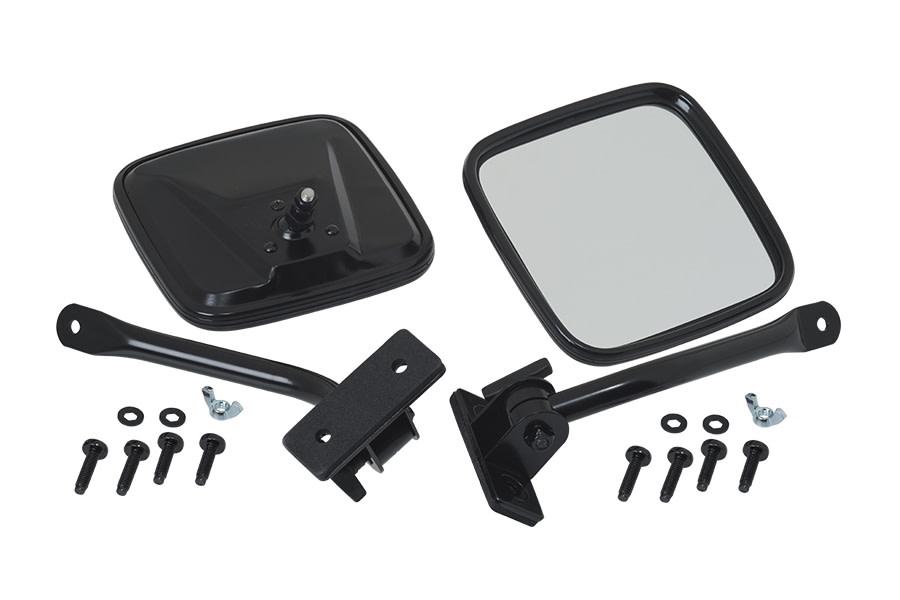 Kentrol E-Z Detach Mirror Set - Powdercoat Black  - JK/TJ
