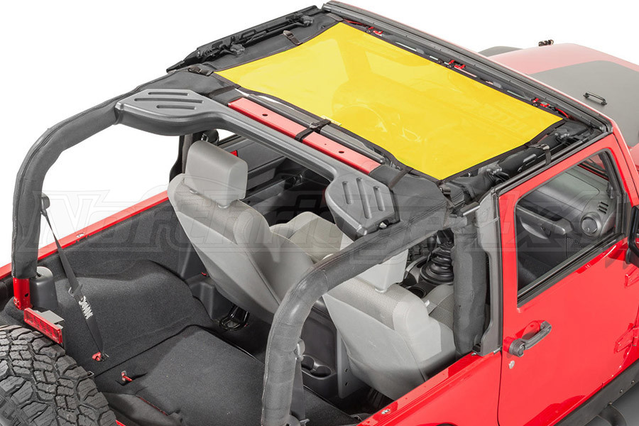 Dirty Dog 4x4 Front Seat Sun Screen Yellow (Part Number:J4SS07F1YL)