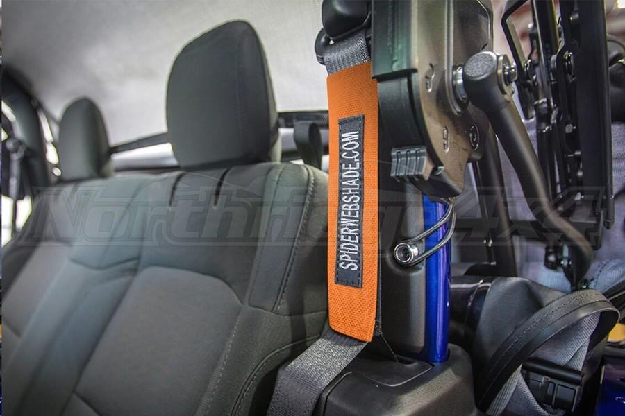 Spiderwebshade SeatBelt Silencers Orange (Part Number:SWS-SBSLNR-01-JL2D-ORG)