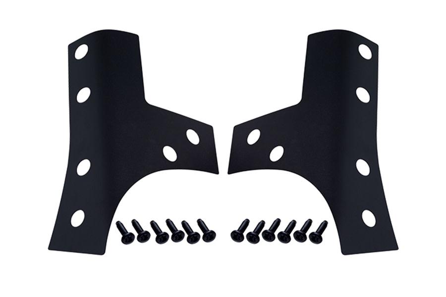 Kentrol Windshield Support Overlay Set - Textured Black  - JK