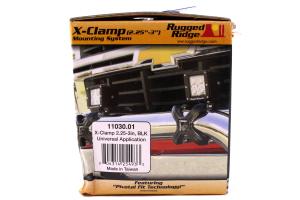 Rugged Ridge X-Clamp Bar Mount Black (Part Number: )