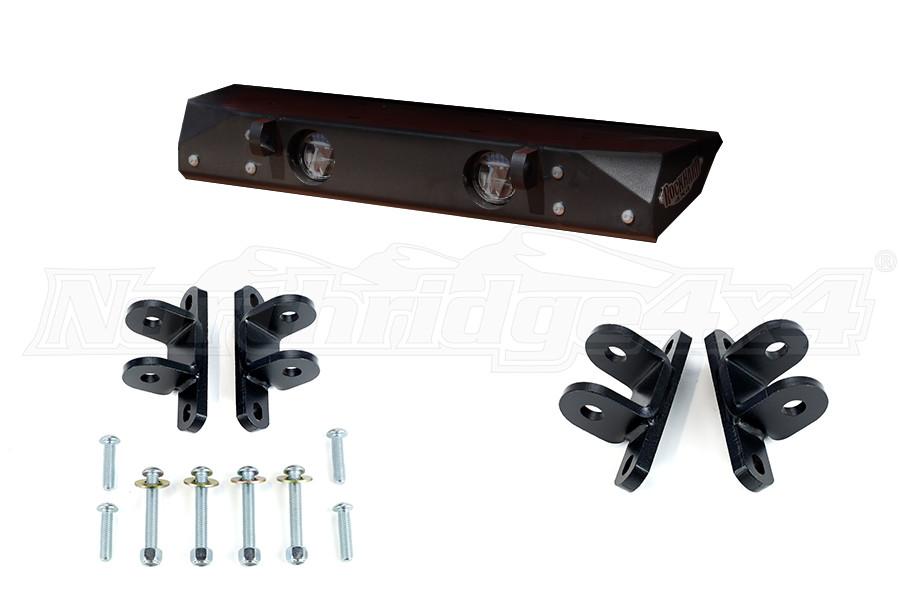 Rock Hard 4x4 Front Bumper w/ A-Pillar Light Backet and Tow Bar Bracket - JT/JL