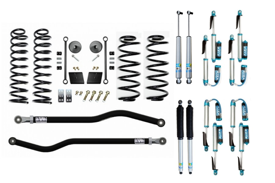 Evo Manufacturing 2.5in Enforcer Stage 1 PLUS LIft Kit w/ Shock Options - JL Diesel