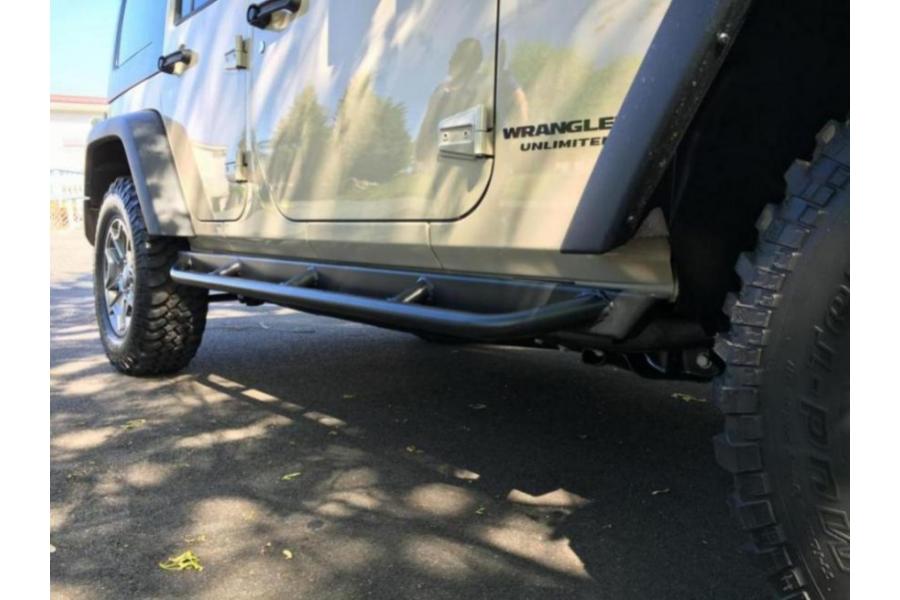 Rock Hard 4x4 Patriot Series Tube Slider Rocker Guards, Angled Downward (Part Number:RH-6010)