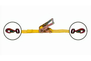 Mac's Ratchet Strap w/ Flat Snap Hooks 2in x (Part Number: )