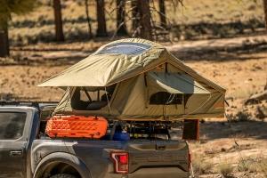 Roam Vagabond Rooftop Tent - Forest Green/Hyper Orange