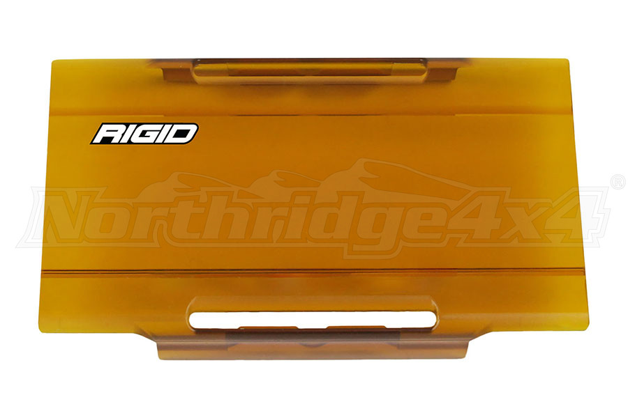 Rigid Industries E-Series 6IN Light Cover, Amber (Part Number:106933)
