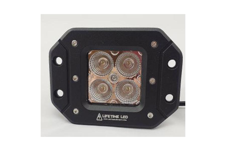 Lifetime LED 20W Off Road Lights Flush Mount 3in Amber/White (Part Number:LLL20-AW-FLUSH)