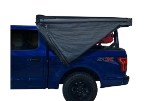 Overland Vehicle Systems Nomadic 270 LT Awning - Driver Side - Dark Gray w/ Black Cover