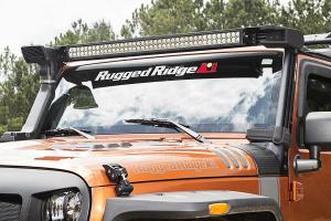 Rugged Ridge Elite Fast Track Windshield Light Bar Mounting Brackets (Part Number: )