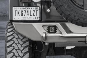 LOD Destroyer Rear Light Bezel Options, Rigid D-Series Flush Mount lights Black Powder Coated  - JL