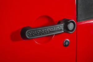 Rugged Ridge Door Handle Inserts, Black Tread - JK 4DR
