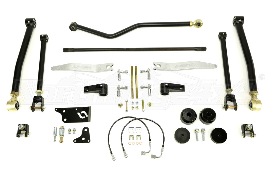Currie Enterprises Rock Jock 4in Suspension w/AntiRock Sway Bars and Trac Bars (Part Number:CE-9807JCE)