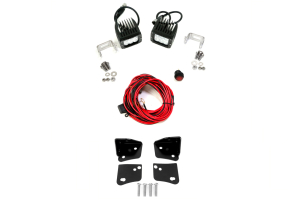 Rigid Industries D2 LED H/L Driving Lights and Lower A-Pillar Light Mounts Kit ( Part Number: 45-28-RDA-50231-KIT)