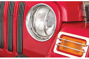 Smittybilt Euro Turn Signal Guards Stainless Steel (Part Number: )