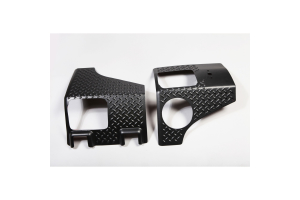 Rugged Ridge Rear Corner Guards Black - JK