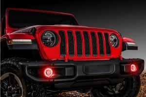 Oracle LED Surface-Mount Fog Light Halo Kit - Red - JT/JL and JK w/ Factory LEDs