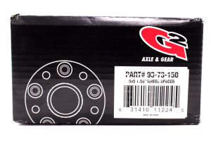 G2 Axle and Gear Wheel Spacer Kit 5x5 1.5in ( Part Number: 93-73-150)
