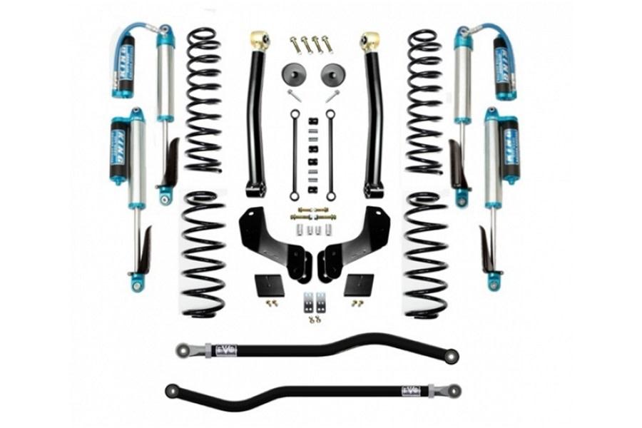 Evo Manufacturing 2.5in Enforcer Overland Stage 2 PLUS Lift Kit w/ Comp Adjuster Shocks - JL Diesel