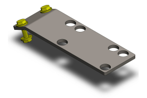 Clayton Rubicon Compressor Skid Plate Mount  (Part Number: )